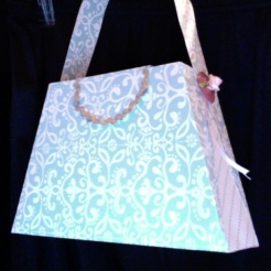 "Bella Purse Blue & White (Private Collection) 7"" x 4.5"" x 2"" $35.00"