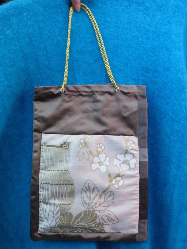 Brown Silk & Pink Evening Bag $135.00 for this set; includes coin purse and wallet