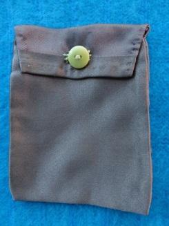 Brown Silk Coin Purse