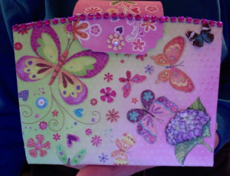 Butterflies and bicycles mini album 6″ x 3″ x 9″ $53.00