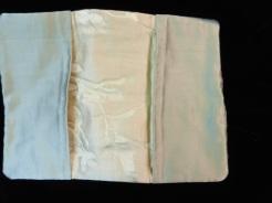 Cream Silk Wallet interior