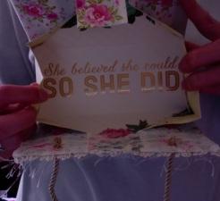 "Felicity Purse Roses Stripes 2 7"" x 4"" x 3.5"" $35.00"