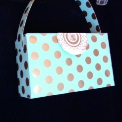 "SOLD Gina Purse Aqua & Gold 6"" x 3.5"" x 2"" $26.00"