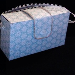 "Gina Purse Blue Snowflakes 6"" x 3.5"" x 2"" $35.00"