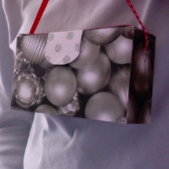 "SOLD Gina Purse Silver Balls Gold 6"" x 3.5"" x 2"" $35.00"