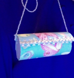 "Emily Tube Purse Butterfly 4"" x 1.75"" diameter $12.00"