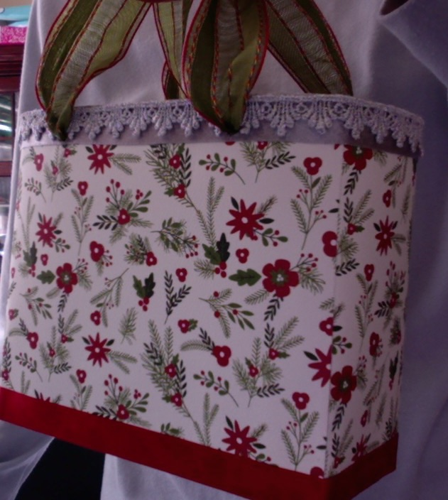 "SOLD Lisette Tote Evergreens and Silver 7"" x 6"" x 3"" $44.00"