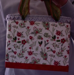 """SOLD Lisette Tote Evergreens and Silver 2 7"""" x 6"""" x 3"""" $44.00"""