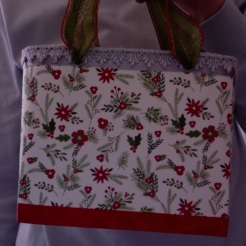 "SOLD Lisette Tote Evergreens and Silver 2 7"" x 6"" x 3"" $44.00"
