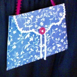 SOLD Lilly Purse Blue Floral