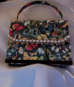 "Helena Purse Butterflies 7"" x 5.5"" x 2"" $26.00"