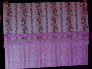 "Helena Purse Pink Roses 7"" x 5.5"" x 2"" $26.00"