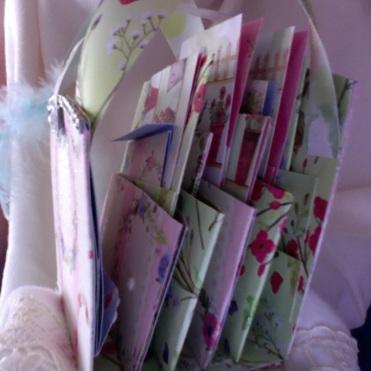 Pink Stripes and Flowers Mini Album 5″ x 6″ x 2.5″ $62.00