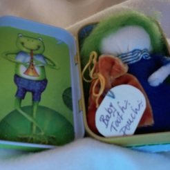 "Froggy Tooth Fairy Kit 3.75"" x 2.25"" x 1"" $20.00"
