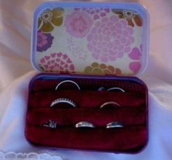 SOLD Travel Ring Box 3.75″ x 2.25″ x 1″ $20.00