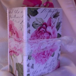"SOLD Pink Peony Journal 4.5"" x 5.75"" x 2.25"" $116.00"