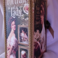 "SOLD Portrait of a Lady Journal 7"" x 8"" x 4"" $197.00"