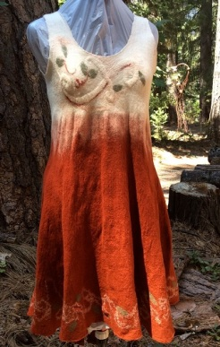 Rust Dress by Terry Shearn