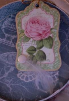 Botanical Tea Rose Tag