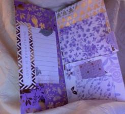 """Lavender Folio 5"""" x 10"""" $26.00"""