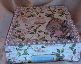"Secret Garden Tea Box 6.5"" x 6.5"" x 2"" $35.00"