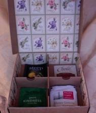 "Secret Garden Tea Box 6.5"" x 6.5"" x 2"" $35.00"