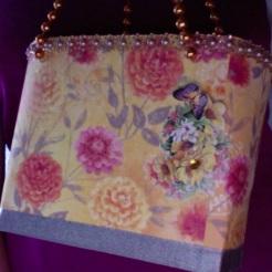 "Lisette Tote Orange Floral 7"" x 6"" x 3"" $44.00"
