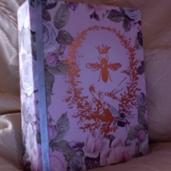 "SOLD Magical Miracles Journal Bees & Roses 5.50"" x 4.25"" x 1"" $44.00"