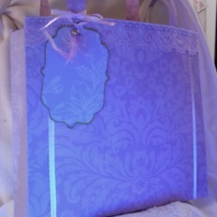 "Ginger Tote Wisteria Leaves 8.5"" x 7.5"" x 2"" $35.00"