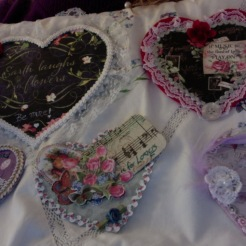 Five Embellished Hearts for Swap