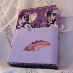 Purple Floral Box and Notebook $26.00