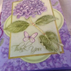 "Hydrangea Card Journal 4-7/8"" x 6-4/5"" $8.00"
