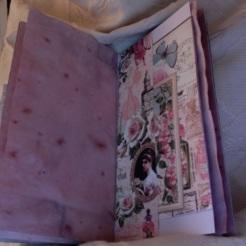 "Wisteria Stuffed Bag Journal 6"" x 7.25"" $98.00"