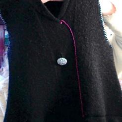 Black Felted Sweater Bag $35.00