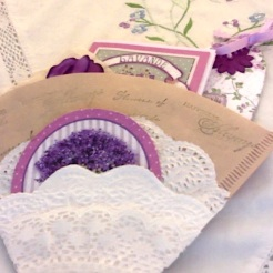 "Lavender Coffee Filter Pocket 4"" x 6"" $26.00"