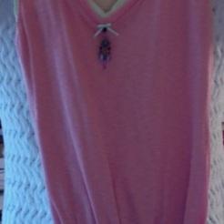 Peach and Green T Shirt Bag $26.00