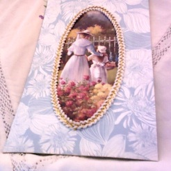 "Tissue Box Frame with Greeting Card Image 4-5/8"" x 8"" 8.00 ing Card Image"