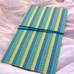 "Blue & Green Wallet 8.25"" x 4.75"" $35.00"