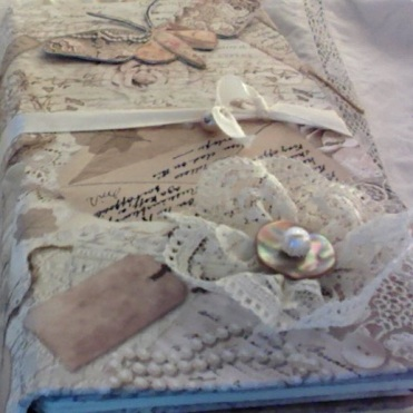 "Old Lace Travel Journal 4.75"" x 8.75."" x 1.75"" $98.00"