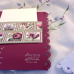 "Blossom card back 2 6.5"" x 4.75"" $26.00"