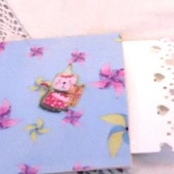 """Book Page Pocket: """"Muffin Recipe"""" 5-5/8"""" square $26.00"""